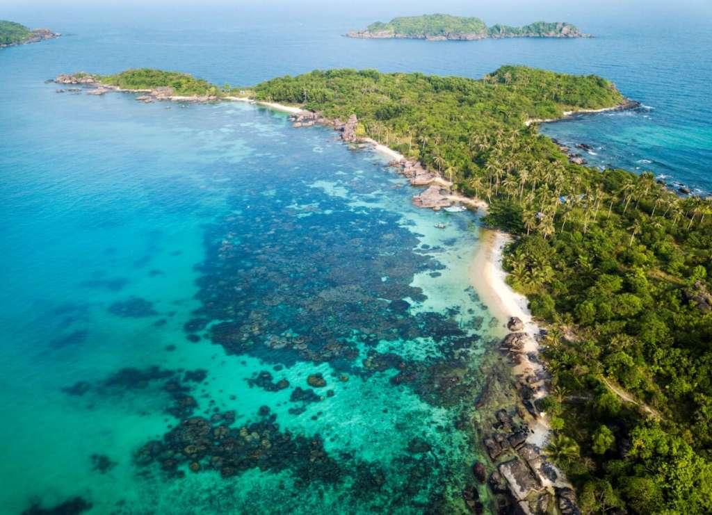 Vẻ đẹp của Nam Phú Quốc nhìn từ cáp treo Hòn Thơm