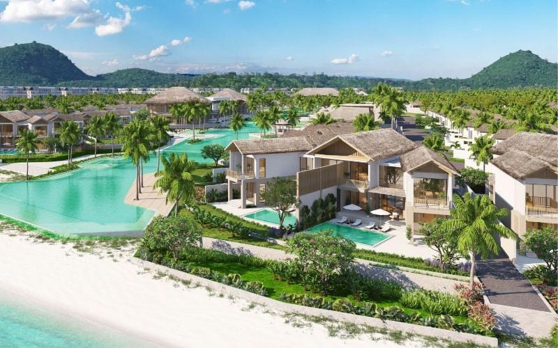 Villa phong cách làng biển Sirina thuộc quần thể nghỉ dưỡng bãi Kem