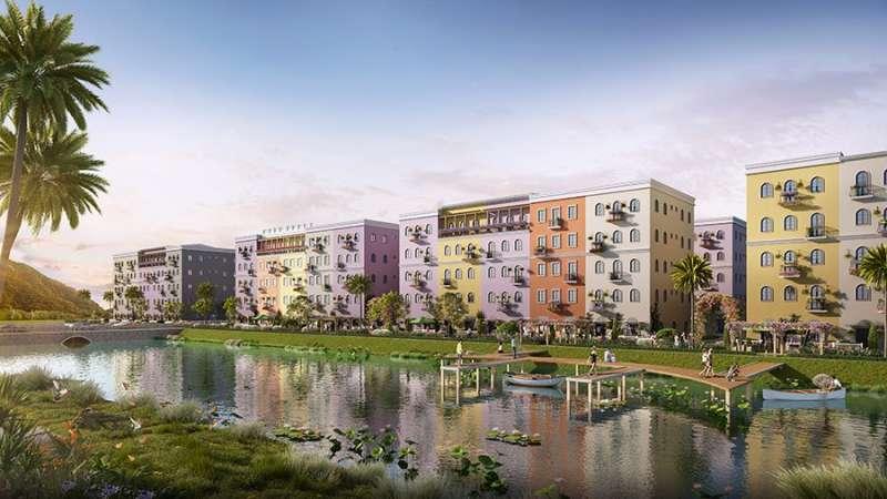 Khoản công viên xanh mát bên bờ hồ hiền hòa mang đến không gian sống lý tưởng cho cư dân.