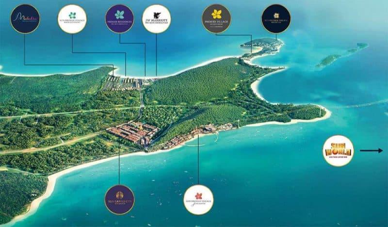 Kết nối từ dự án New An Thới Nam Phú Quốc đến các khu nghỉ dưỡng của Sun Group.