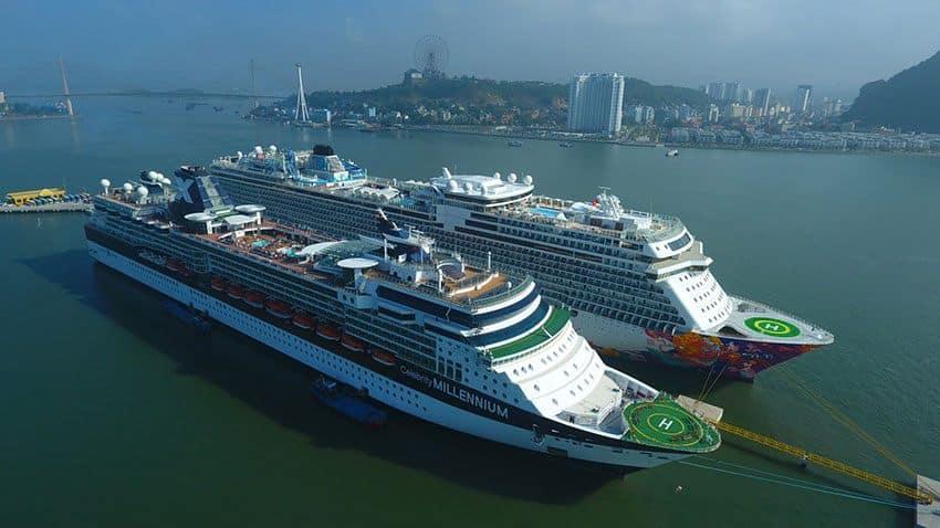 Cảng tàu quốc tế Hạ Long tọa lạc tại Bãi Cháy