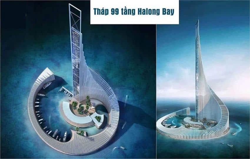 Phối cảnh tòa tháp Sun Group cao 99 tầng.