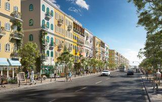 Dễ dàng ở và kinh doanh thuận tiện tại các căn nhà phố tại Sun Grand City New An Thoi.