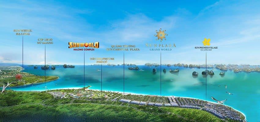 Tổ hợp nghỉ dưỡng Premier Village Hạ Long của tập đoàn Sun Group.