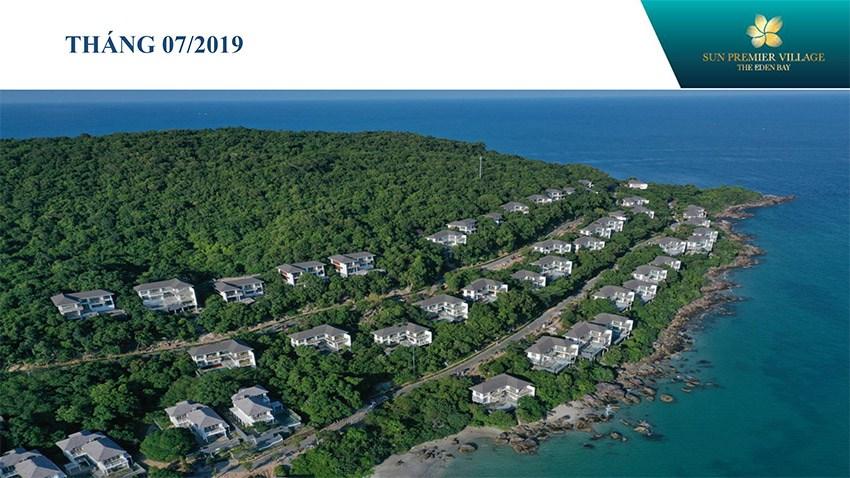 Tiến độ xây dựng Sun Premier Village The Eden Bay(Biệt thự Mũi Ông Đội hay VIP 50) cập nhật vào tháng 7/2019.