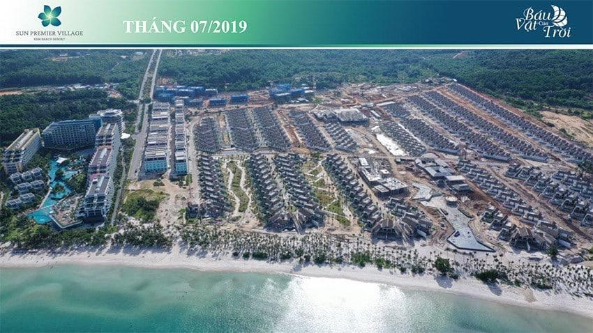 Toàn khu biệt thự bãi kem Sun Premier Village Kem Beach Resort gần như đã xong phần xây dựng.