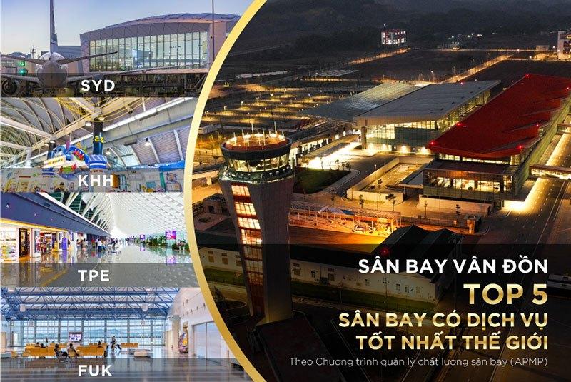 Cảng hàng không quốc tế Vân Đồn lọt top các sân bay có dịch vụ tốt nhất thế giới