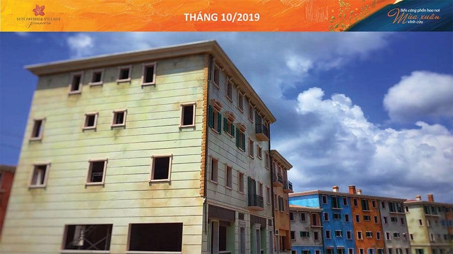 Tiến độ xây dựng Sun Premier Village Primavera Shophouse Địa Trung Hải tháng 10/2019