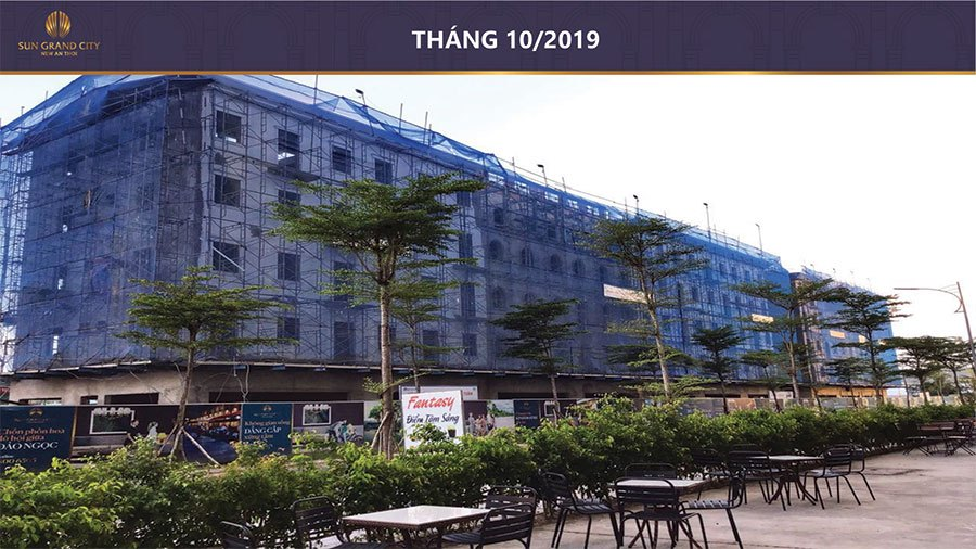 Tiến độ xây dựng Sun Grand City New An Thới tháng 10/2019