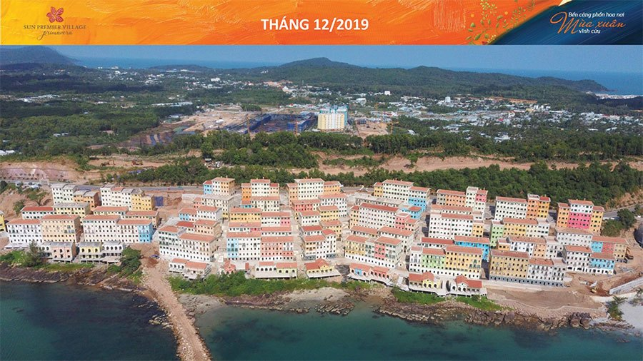 Tiến độ xây dựng Sun Premier Village Primavera Shophouse Địa Trung Hải tháng 12/2019