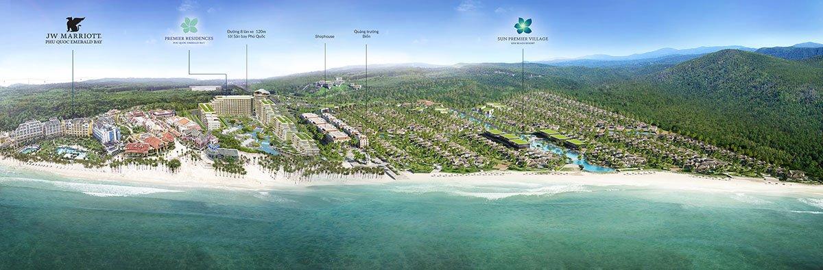 Vị trí dự án Sun Premier Village Kem Beach Resort tại Bãi Kem.