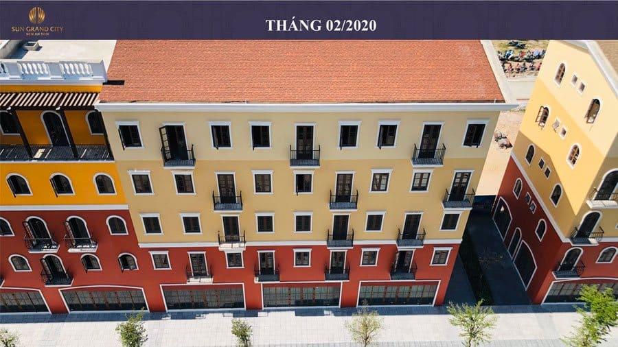 Tiến độ xây dựng Sun Grand City New An Thới Nam Phú Quốc tháng 02/2020