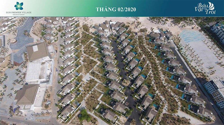 Tiến độ xây dựng Sun Premier Village Kem Beach Resort tháng 02/2020