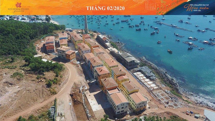 Tiến độ xây dựng Sun Premier Village Primavera Shophouse Địa Trung Hải tháng 02/2020.