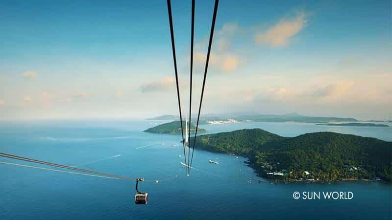 Cáp treo Hòn Thơm Phú Quốc là cáp treo 3 dây vượt biển dài nhất thế giới với chiều dài 7899,9m