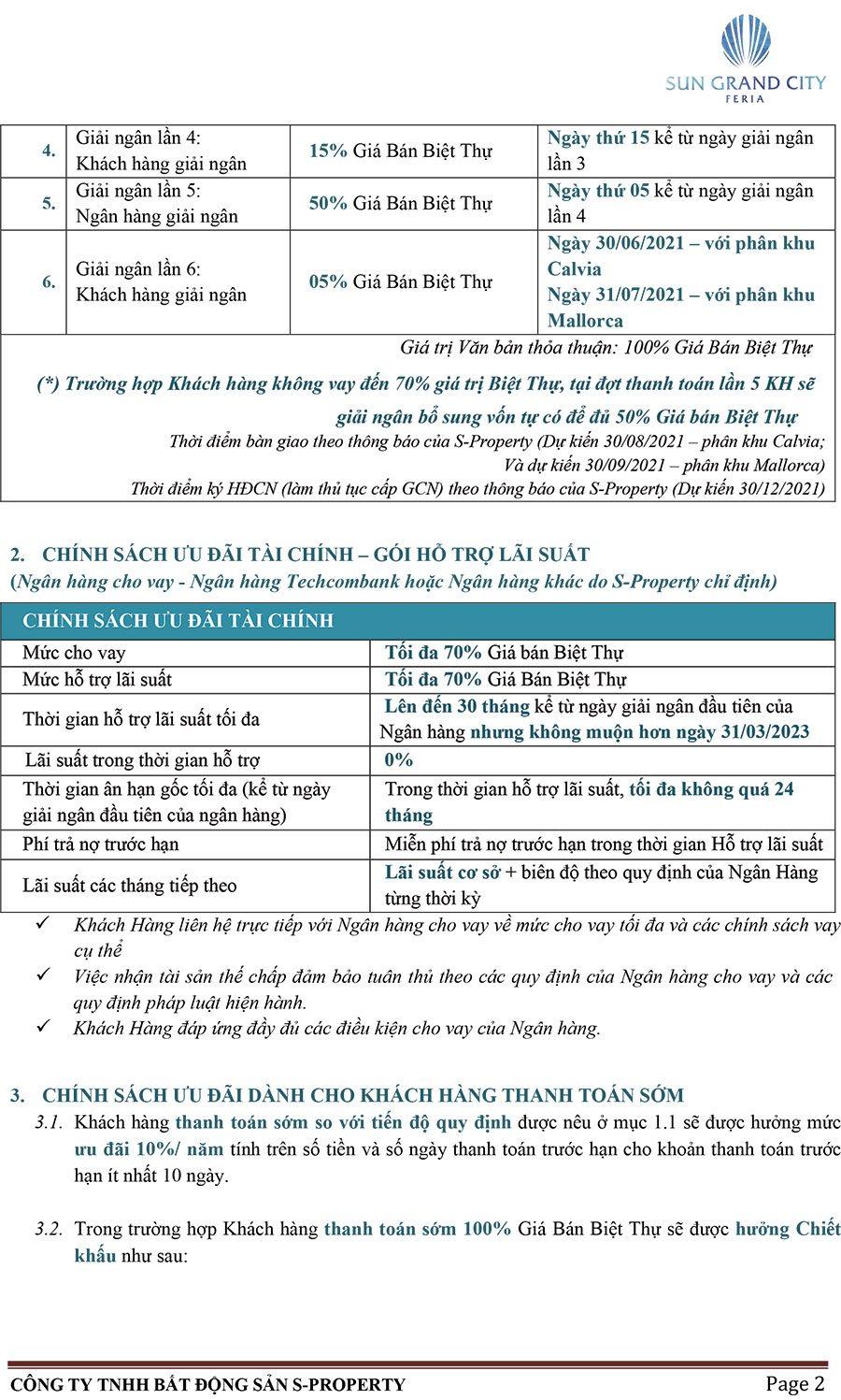 Chính sách bán hàng biệt thự Sun Grand City Feria Hạ Long - Trang 2.