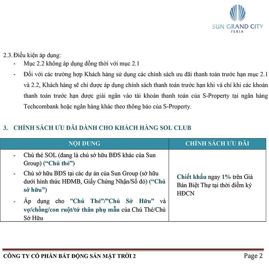 Chính Sách Bán Hàng Feria Hạ Long – Áp Dụng Cho Khách Hàng Không Vay - Trang 2.