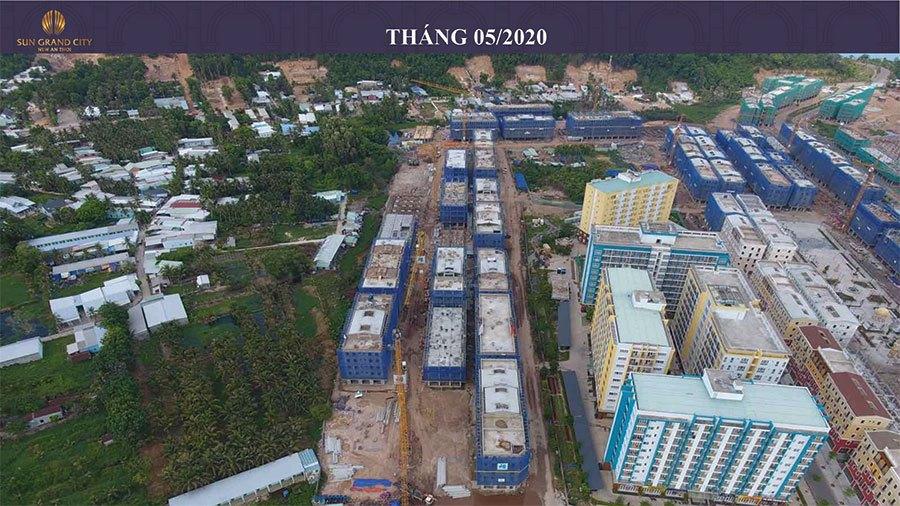Tiến độ xây dựng Sun Grand City New An Thới Nam Phú Quốc tháng 05/2020