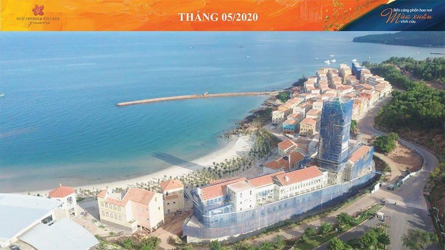Tiến độ xây dựng Sun Premier Village Primavera Shophouse Địa Trung Hải tháng 05/2020.