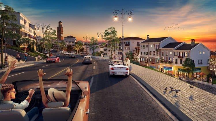 Dãy nhà phố Sun Premier Village Primavera đậm chất Địa Trung Hải. Ảnh phối cảnh: Tập đoàn Sun Group.