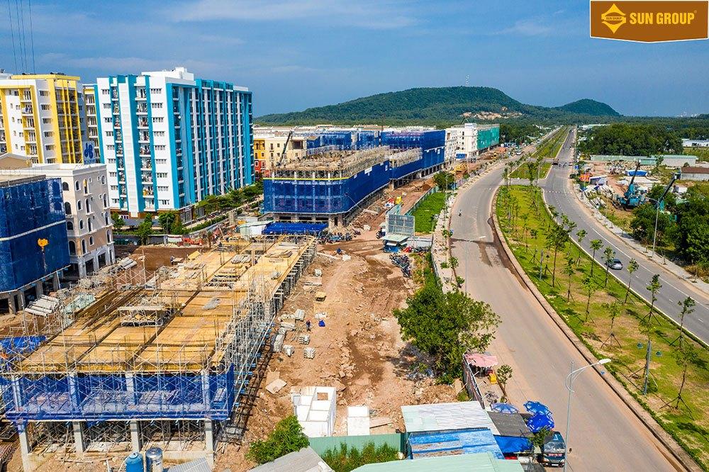 Tiến độ xây dựng Sun Grand City New An Thới vào tháng 11/2020
