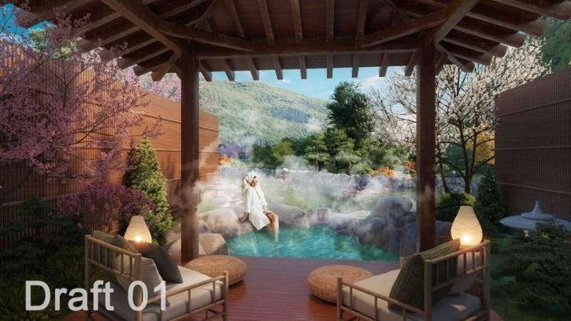 Mẫu biệt thự song lập của dự án Sun Onsen Village Limited Edition.