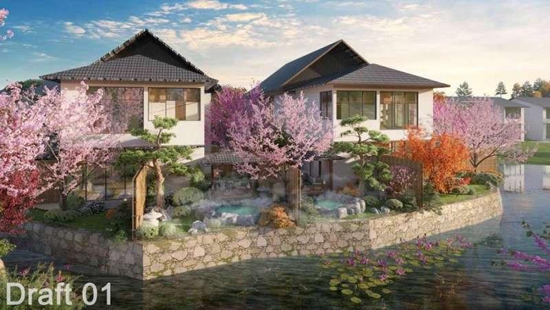 Mẫu biệt thự tứ lập của dự án Sun Onsen Village Limited Edition.