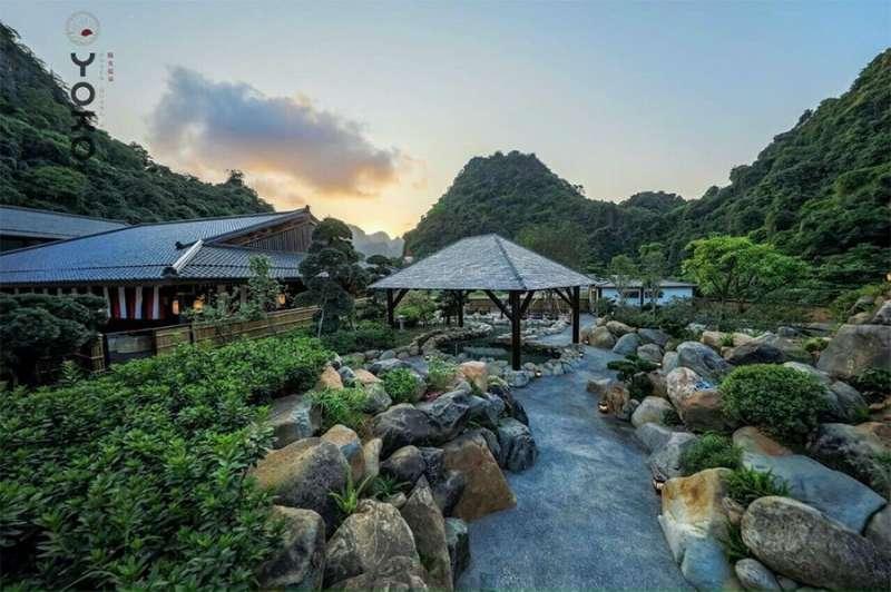 Nguồn nước khoản nóng được mang đến từng căn biệt thự Sun Onsen Village.