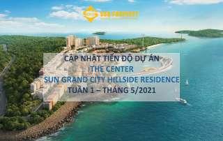 Tiến độ xây dựng Shophouse The Center thuộc dự án Sun Grand City Hillside Residence tháng 05 2021