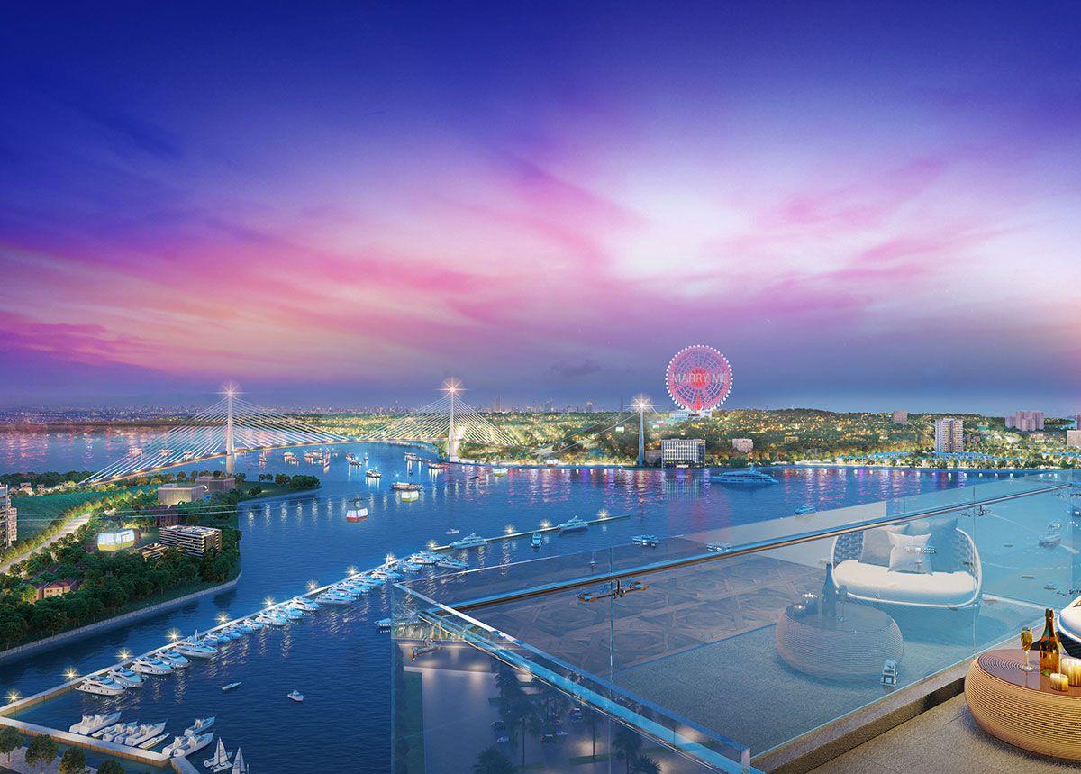 View trực diện thành phố Hạ Long ngắm nhìn bể bơi đẳng cấp