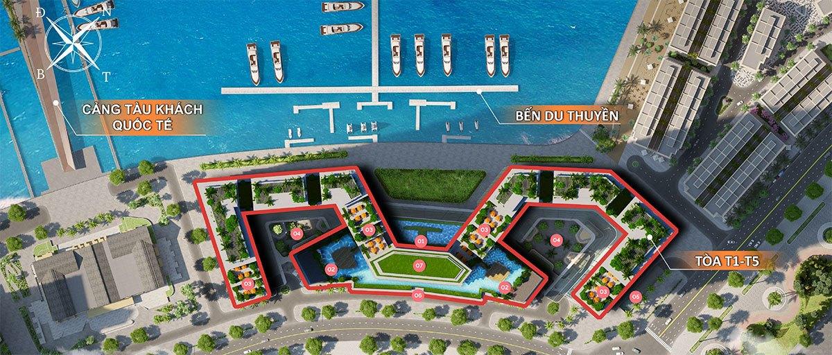 Mặt bằng tổng thể dự án căn hộ Sun Marina Town Hạ Long.