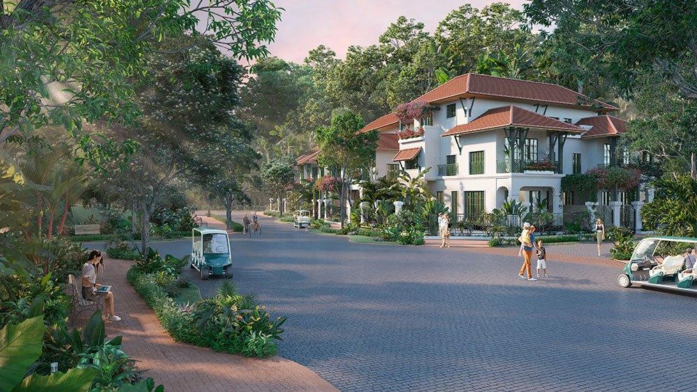 Biệt thự Sun Tropical Village theo phong cách nhiệt đới hoàn hảo giữa 3 tầng thiên nhiên.