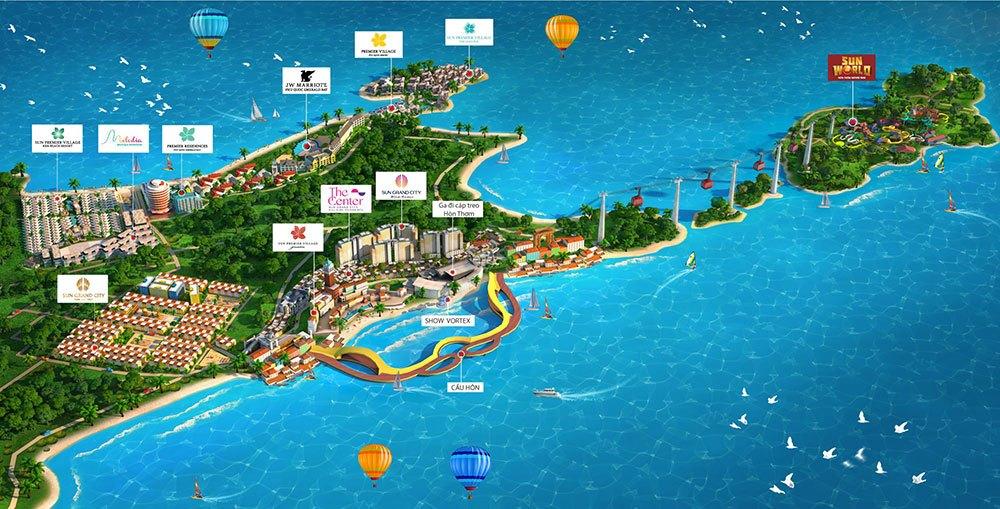 Hệ sinh thái Sun Group Nam Phú Quốc.